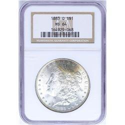 1883-O $1 Morgan Silver Dollar Coin NGC MS64 Nice Toning