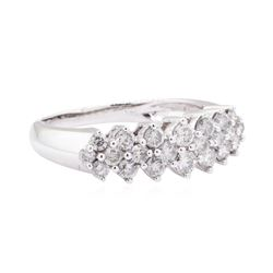14KT White Gold 1.00 ctw Diamond Band