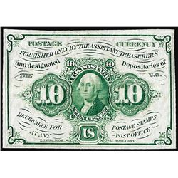 July 17, 1862 Ten Cents First Issue Fractional Note
