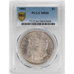 1882 $1 Morgan Silver Dollar Coin PCGS MS66