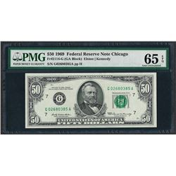 1969 $50 Federal Reserve Note Chicago Fr.2114-G PMG Gem Uncirculated 65EPQ