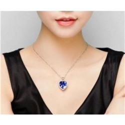 "Austrian Crystal with Swarovski Elements - Beautiful blue ""Heart of the Ocean"" necklace."