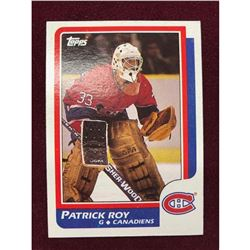 Vintage 1986 Patrick Roy Rookie Hockey Card