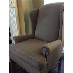 "Like-New High Back Armchair 3'9""H x 2'7""D x 2'5""W"