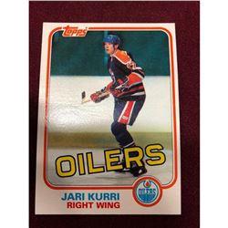 Vintage 1981 Jari Kurri Edmonton Oilers Rookie Hockey Card