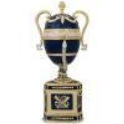 1895 Blue Serpent Clock Russian Faberge Egg