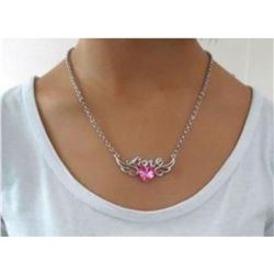 Austrian Crystal with Swarovski Elements - Angel wings & Love/Heart-Pink