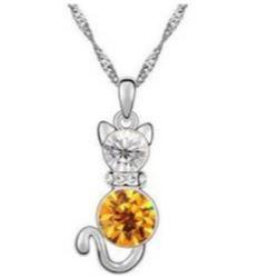 Austrian Crystal with Swarovski Elements - Kitten-Dark yellow