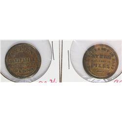 (2) HIGH GRADED ENCASED POSTAGE 1862