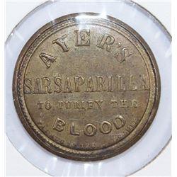 1 CENT AYERS SARSAPARILLA BLUE STAMP