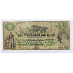RARE MONCTON NB WESTMORELAND BANK