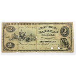 JEWITT AND PITCHER BOSTON $2 NOTE