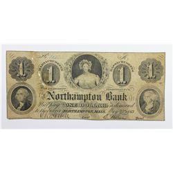 1863 $1 NORTHAMPTON BANK
