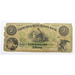 $2 FARMERS AND MERCHANTS BANK