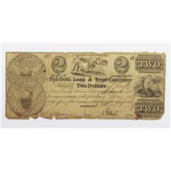1839 $2 FAIRFIELD LOAN AND TRUST CO