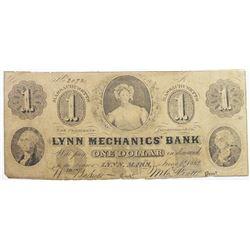 1862 $1 LYNN MASSACHUSETTS