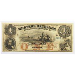 1857 $1 WESTERN EXCHANGE