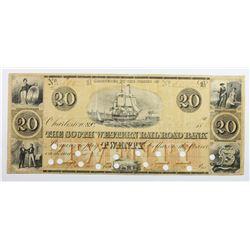 1864 $20 SOUTHWESTERN RAILROAD BANK
