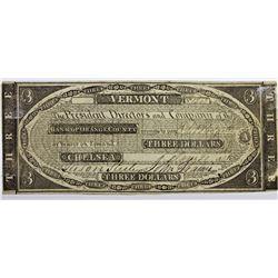 1841 $3 BANK OF ORANGE COUNTY
