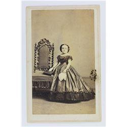 CARTE DE VISITE MRS. GENERAL TOM THUMB