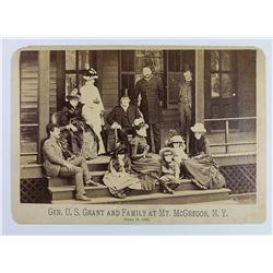 GENERAL U.S. GRANT AND FAMILY PORTRAIT 1885