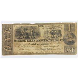MUNROE FALLS MANE CO OHIO 1838 $1
