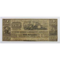 MASSACHUSETTS $2 FARMERS AND MERCHANTS BANK 1837