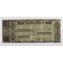 MASSACHUSETTS $10 GLOUCESTER BANK 1810'S RARE!
