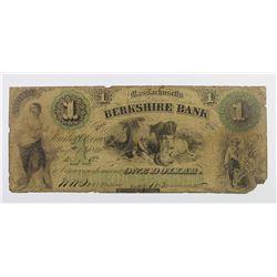 RARE BERKSHIRE BANK $1 1860