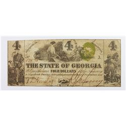 RARELY SEEN $4 CONFEDERATE 1864