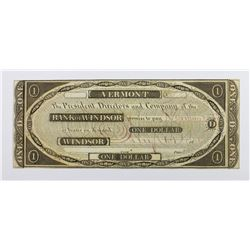 1808 VERMONT BANK OF WINDSOR XF-AU