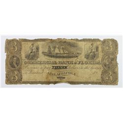 RARE EARLY FLORIDA 1830'S