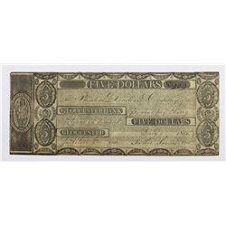 $5 GLOUCESTER BANK 1814 MASSACHUSETTS VERY RARE