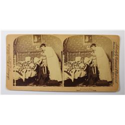 1891 STEREOSCOPE CARD TREASURY BILL IN PLAIN VIEW