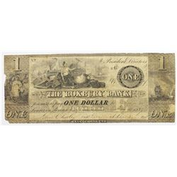 1837 ROXBURY BANK $1 MASSACHUSETTS