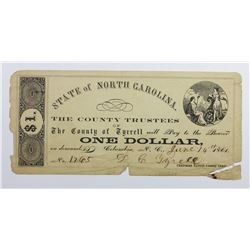 1861 STATE OF NORTH CAROLINA