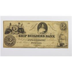 1853 $2 SHIPBUILDER'S BANK