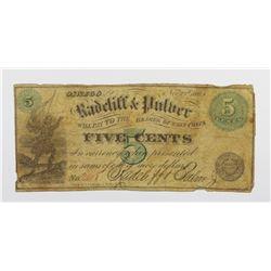1863 FIVE CENTS HALF DIME
