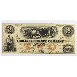 1850'S ADRIAN INSURANCE COMPANY