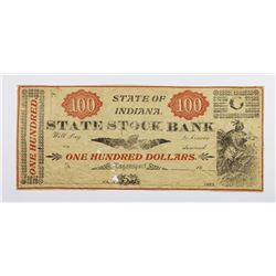 $100 STATE OF INDIANA