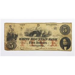 WHITE MOUNTAIN BANK $5