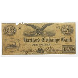 1858 $1 HARTFORD EXCHANGE BANK