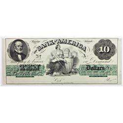 BANK OF AMERICAN 1850'S $10