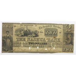 1849 $2 NASHUA BANK