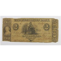 MECHANICS BANK $2 POPULAR DENOMINATION