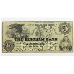 1860 THE HINGHAM BANK