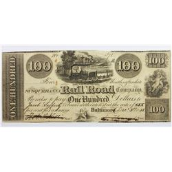1838 $100 BALTIMORE AND SUSQUEHANNA