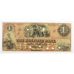 1858 $1 THE HOLYOKE BANK