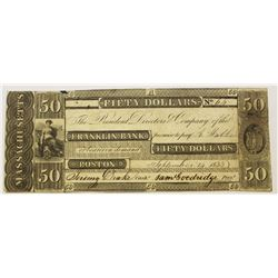$50.00 FRANKLIN BANK BOSTON
