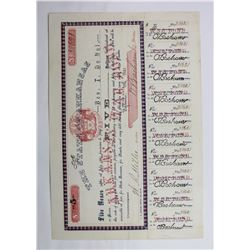 1861 $5 CONFEDERATE CIVIL WAR BOND